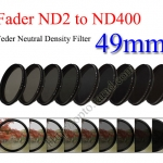 Fader Neutral Density ND2 to ND400 Filter 49mm.