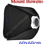 Portable Studio Softbox Easy Kit 60 x 60cm for Mount Bowens