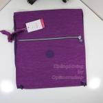 Kipling Supertaboo Purple Dahlia C กระเป๋าสะพายหลัง แบบถุงผ้า ขนาด 39.5cm x 45cm