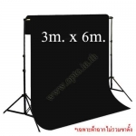 Black Background Backdrop 3x6m. Cotton for Chromakey