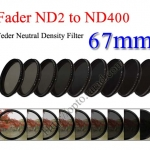 Fader Neutral Density ND2 to ND400 Filter 67mm.