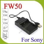 USB NP-FW50 BatteryCharger แท่นชาร์จสำหรับแบตเตอรี่Sony NP-FW50 กล้องรุ่น A7 A7S A7R II A6000 A5100 NEX