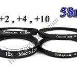 Macro Lens +1,+2,+4,+10 (Close-up Lens) 58mm