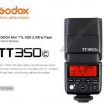 TT350C Flash Godox For Canon DSLR and Mirroless TTL HSS Wireless Trigger 2.4Ghz Flash แฟลชหัวค้อน