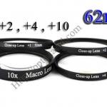 Macro Lens +1,+2,+4,+10 (Close-up Lens) 62mm