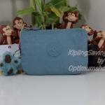 Kipling Creativity S Pastel Blue C กระเป๋าเอนกประประสงค์ขนาดเล็ก 3 ช่อง + 2ช่องเล็ก ขนาด 14.5 x 9.5 x5 cm
