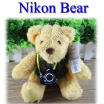 Nikon Bear Gift ตุ๊กตาหมีนิคอน มีเสื้อกั๊ก+กล้องนิคอนคล้องคอ