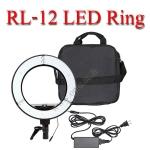 RL-12 LED Ring light 5500k with dimmer 36W Light for Video ไฟต่อเนื่อง ถ่ายรูป ถ่ายวีดีโอ ไฟแต่งหน้า