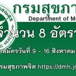กรมสุขภาพจิต รับสมัครบรรจุเข้ารับราชการ 8 อัตรา 9 - 16 สิงหาคม 2560
