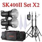 SK400II Set 400W X2 Flash Godox Studio Kit + Wireless Trigger 2.4Ghz ชุดแฟลชสตูดิโอปรับกำลังไร้สาย