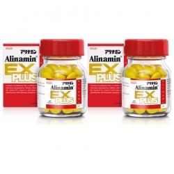 Alinamin Ex Plus อะลินามิน เอ็กซ์ พลัส 60 เม็ด 2 ขวด