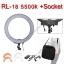 RL-18 + Socket Battery 5500k LED Ring Light 48W Light for Video ไฟต่อเนื่อง ถ่ายรูป ไฟแต่งหน้า thumbnail 1