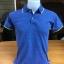 เสื้อโปโลชาย สีน้ำเงินขอบชมพู ไซส์/S/รอบอก36นิ้ว