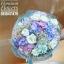 ช่อดอกไม้วันเกิด ม่วงขาวพาสเทล (XL)