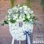 บุปผาอาลัย Floraison โทนสีขาวล้วน (พวงหรีดดอกไม้สด)