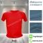 เสื้อยืดคอกลม สีแดง รอบอก50นิ้ว