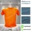 เสื้อยืดคอกลม สีส้ม รอบอก 40 นิ้ว เบอร์ L
