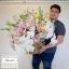กระเช้าดอกไม้ ฟาแลน กุหลาบขาว (Premium) thumbnail 2