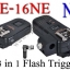 PE-16NE For Nikon N8 Flash Trigger and Wireless Remote with Umbrella Holder thumbnail 1