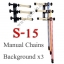 Manual 3Chain Background Stand Set Backdrop S-15 thumbnail 1