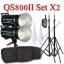 QS800II Setx2 800W Pro Flash Godox StudioSet + Wireless Trger 2.4Ghz ชุดแฟลชสตูดิโอปรับกำลังไร้สาย thumbnail 1