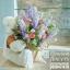 หมีกอดตะกร้าดอกไม้ แสดงความยินดี (PREMIUM)