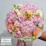 ช่อดอกไม้ สีพีช-ชมพูหวานๆ (L)
