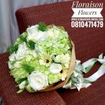 ช่อดอกไม้ ขาวเขียว (M)
