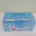 กล่องพลาสติกมีหูหิ้ว สีฟ้า (A002)