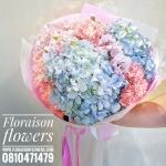 ช่อดอกไม้ Hydrangea pastel (M)