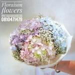 ช่อดอกไม้ พาสเทล 3 สี (M)