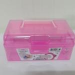 กล่องพลาสติกมีหูหิ้ว สีชมพู (A001)