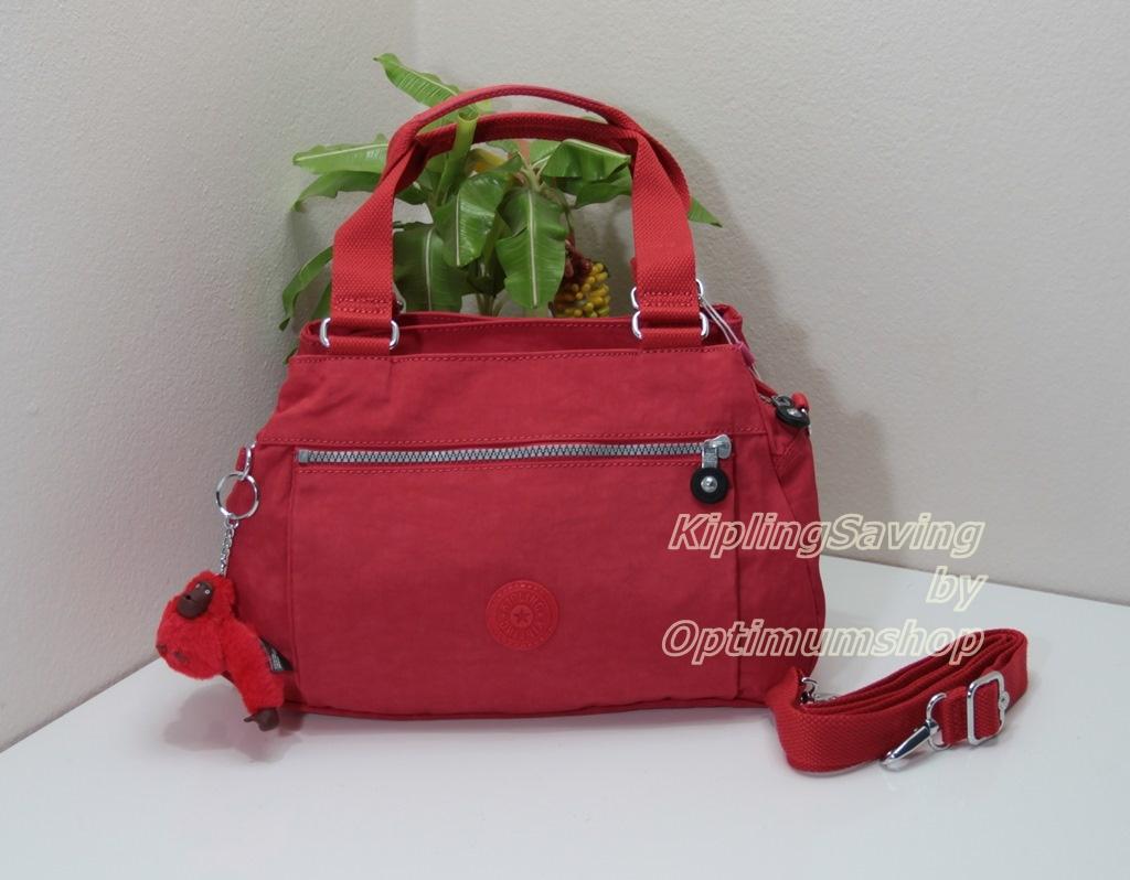 Kipling Orelie Cardinal Red กระเป๋าถือ หรือสะพายข้าง ทรงสวย ขนาด ขนาด 31x 20.5 x 12 cm