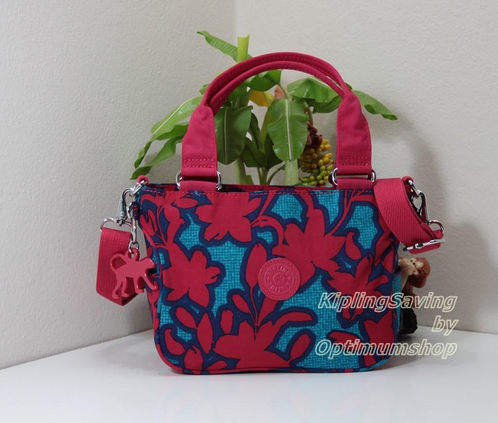 Kipling Emmalee S Funky Flower C กระเป๋าใบเล็ก หิ้วได้ สะพายได้ ขนาด 20 W x 15.5 H x 11.5 D cm Small