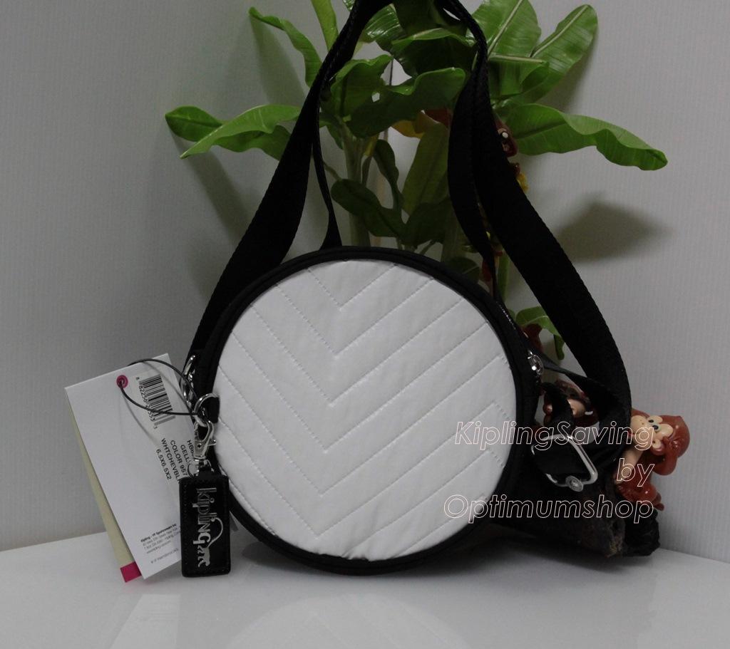 Kipling Gella White Chevon Black ขนาด 6.5 x 6.5 x 2 นิ้ว