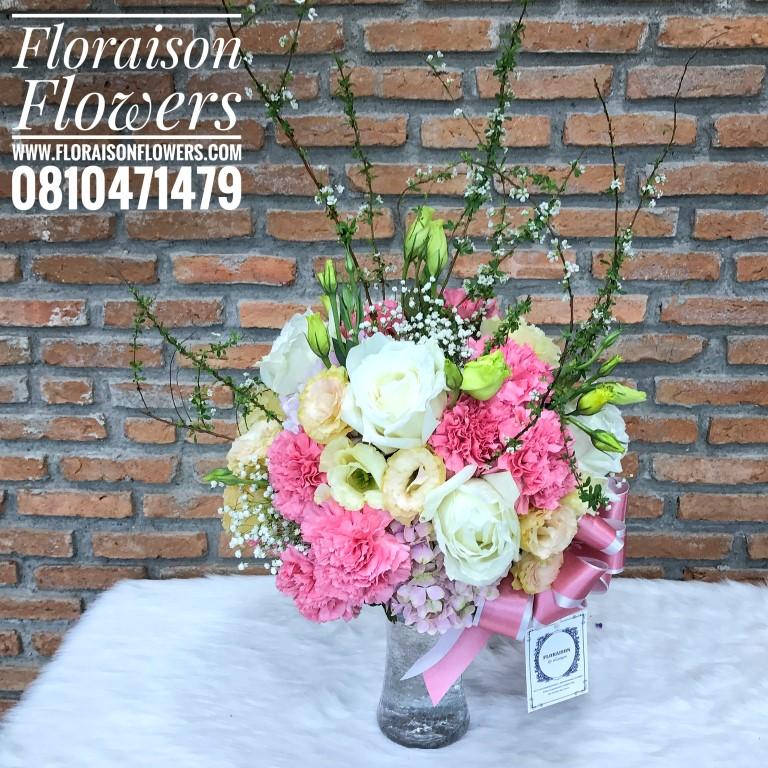 แจกันดอกไม้สำหรับตกแต่งบ้าน ให้สดใส (M)
