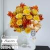 แจกันดอกไม้ โทนส้มเหลือง (L)