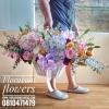 กระเช้าดอกไม้ โอกาสแสดงความยินดี (XL)