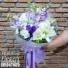 ช่อดอกไม้วันครบรอบ สีม่วงพาสเทล (M)