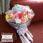 ช่อดอกไม้ โทนสีลูกกวาด สดใส (L)