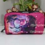 Lesportsac Rectangular Cosmetic ลาย Galaxy Snoopy Small กระเป๋าใส่เครื่องสำอาง ขนาด3.5 x 6.75 x 2 นิ้ว