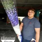 ช่อดอกไม้ Delphinium น้ำเงิน (Premium)