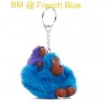 Kipling Baby Monkey Keychain พวงกุญแจลิงแม่ลูก สี French Blue ขนาด 2x5x1 นิ้ว