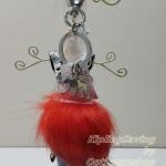 Kipling Keyhanger Fur Monkey Bright Red ขนาด 8*18*8 cm