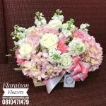 กล่องดอกไม้ ชมพูหวานๆ (L)