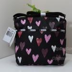 Lesportsac Small Cleo Passion Heart กระเป๋าสะพายขนาดเล็ก ขนาด 9 x 9 x 4.5 นิ้ว