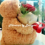 ช่อดอกไม้ตุ๊กตาหมี ตัวเล็ก (S)