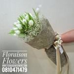 White Gold Tulip ช่อดอกทิวลิปขาว (L)