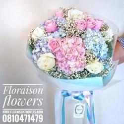 ช่อดอกไม้ ไฮเดรนเยียหวานๆ (L)