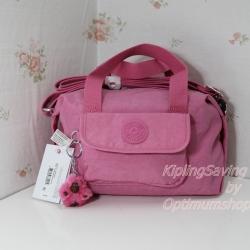 Kipling Brynne Pink Macaroon กระเป๋าหิ้วกุ๊กกิ๊ก หรือสะพายน่ารัก ขนาด L10.5 x H 6.25 X 6 นิ้ว